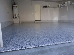 grey white epoxy floor