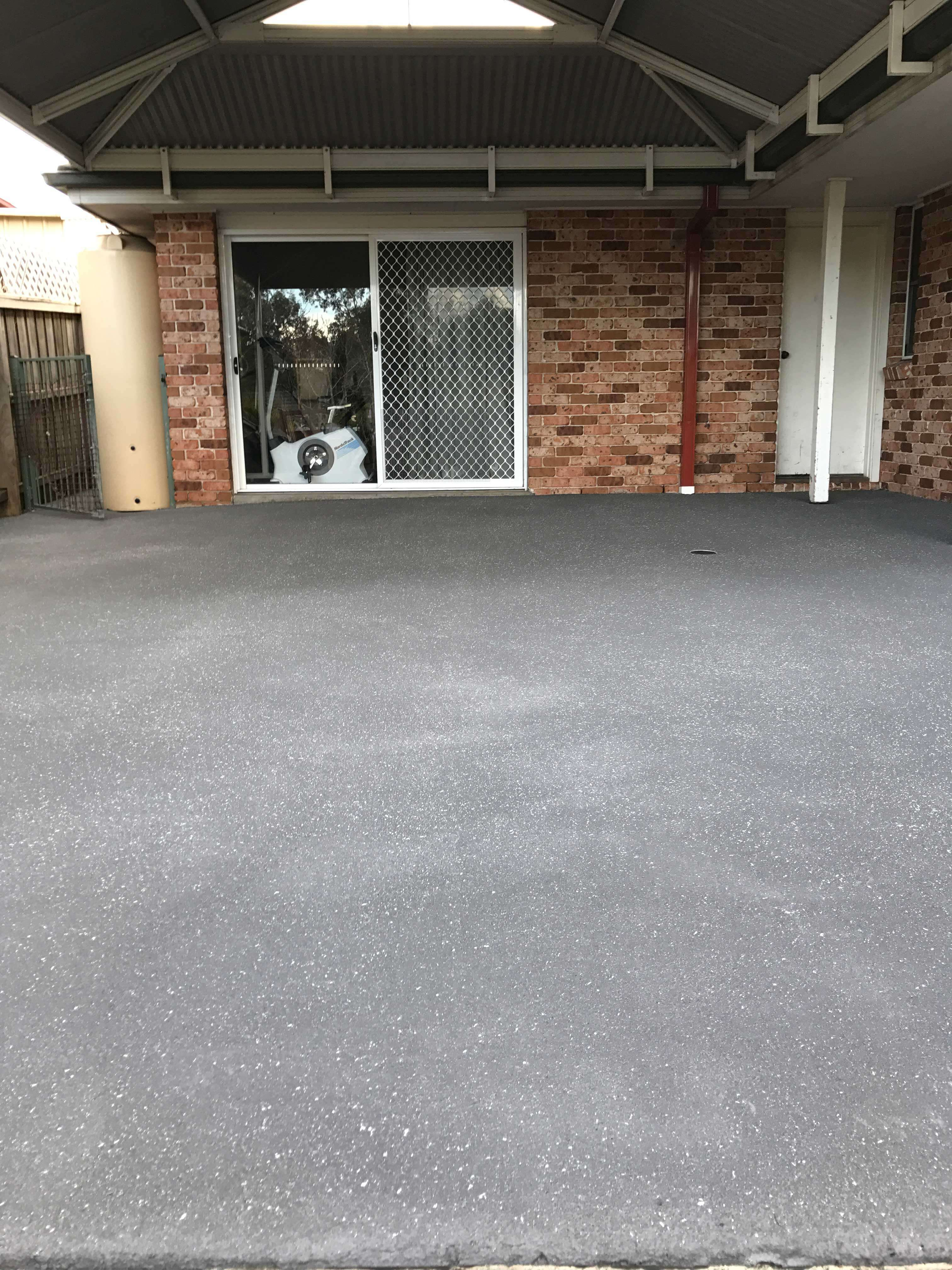 After resurfacing concrete