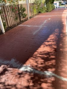 cracked stencil concrete driveway sutherland shire