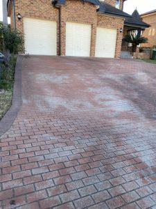 Cecil Hills faded stencil concrete pattern