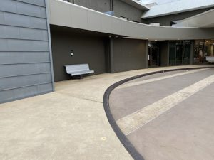 before commercial concrete resurfacing